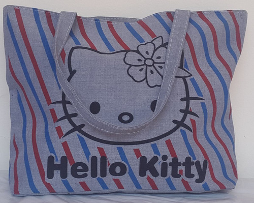 bolso y cartera de tela grande hello kitty