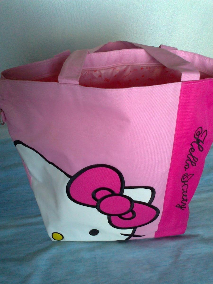 a5d61a749b Bolso Y o Cartera De Lona Hello Kitty - Bs. 500