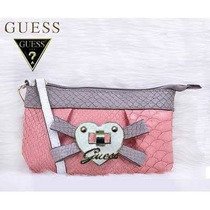 Guess Cartera De Mano Billetera Rosada 100% Original Stock