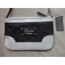 Cartera Guess 100% Original Con Etiquetas Black Logo Elle851