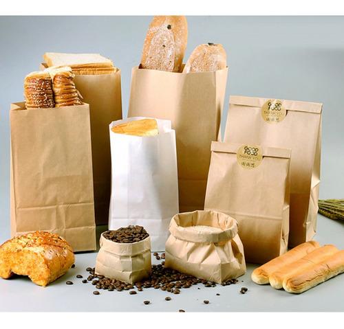 bolsos de alimentos bolsa de papel kraft arte accesorio de