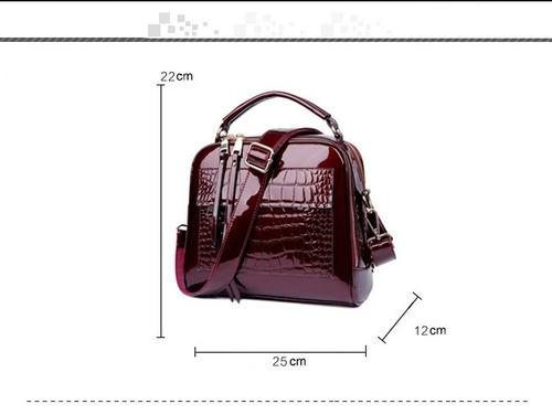 bolsos de cuero de patente de cocodrilo para mujeres como tu