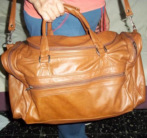 bolsos de cuero grande,largo 49cm,alto29,profudidad23cm.