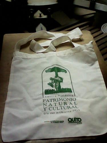 bolsos ecologicos de liencillo estampados 40x40 alar o moral