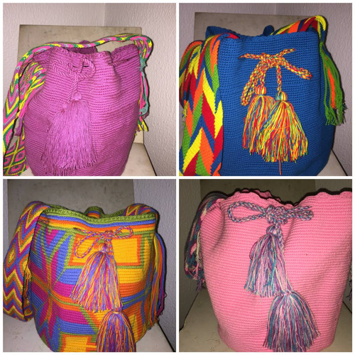 bolsos guajiros o wayuu. estampados o lisos. original