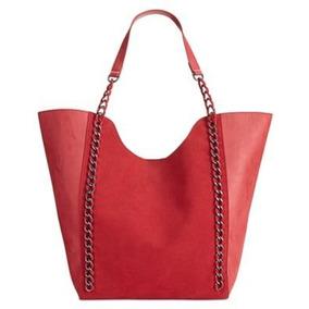 f712c02d8 Inc Bolso Shopper Tote De Piel Sintética Mujer Salli Rojo