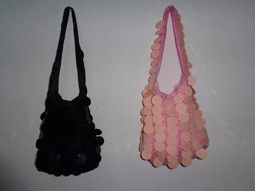 bolsos para damas tejidos con lentejuelas