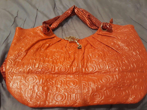 bolsos tipo tous azul y naranja