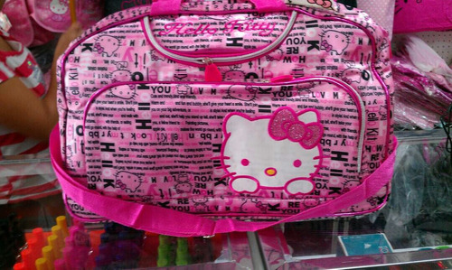 bolsos viajeros de hello kitty
