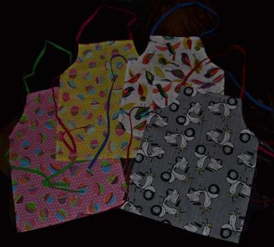 bolsos y delantales estampados