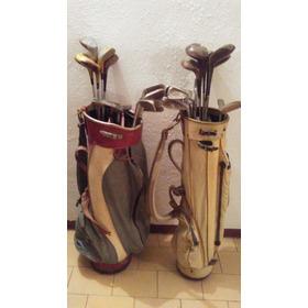 Bolsos Y Palos De Golf Viejos Decorativos Originales