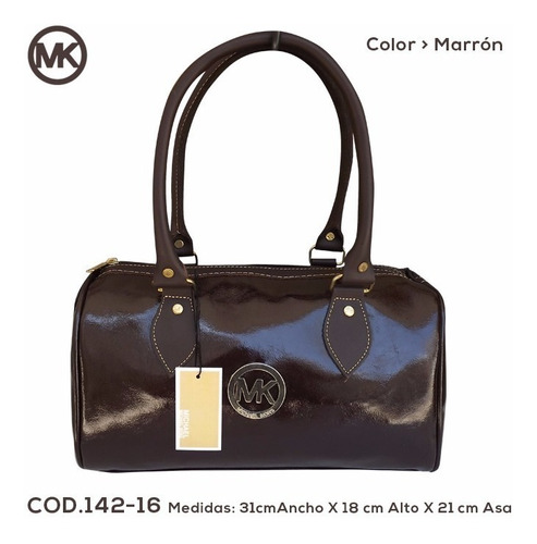 bolsos,carteras,baúl,semicuero mk,asas y aplicaciones cuero