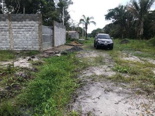 bom terreno aterrado com 125 m², itanhaém-sp! c/ escritura!!