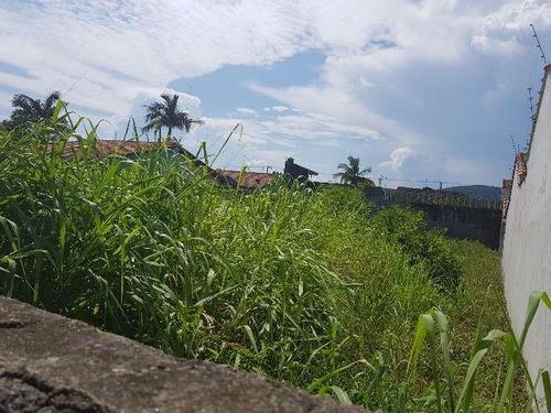 bom terreno murado no bairro suarão, em itanhaém - ref 3737
