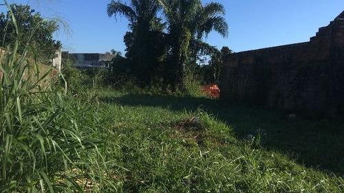 bom terreno no jardim palmeiras, em itanhaém - ref 4254