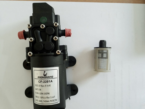 bomba 12v 110psi limpeza ar condicionado split ldc + filtro