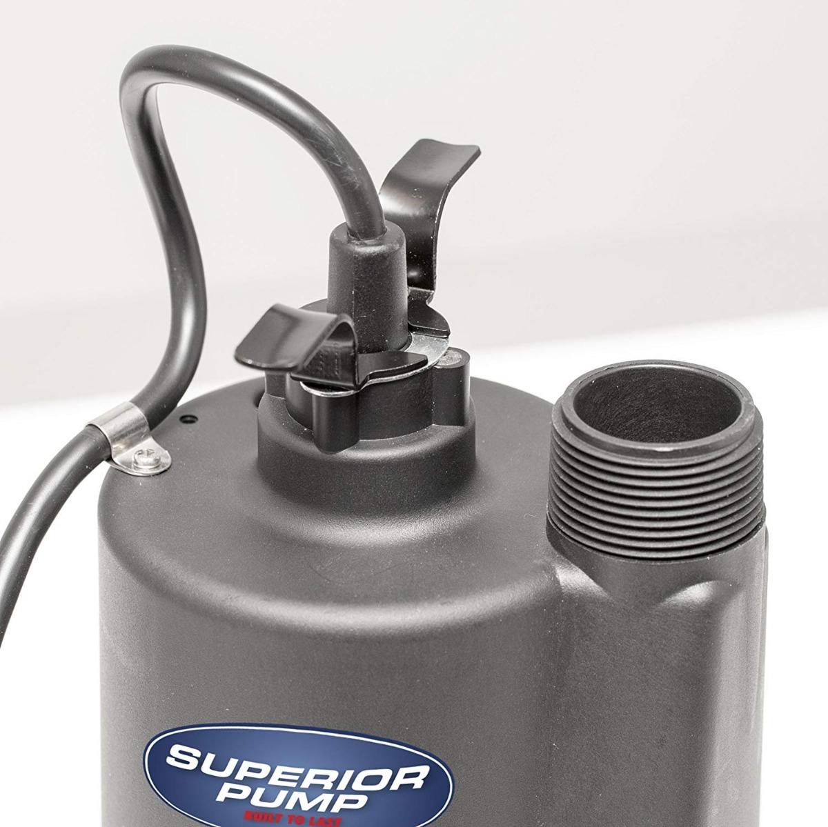 Bomba De Utilidad Sumergible Termoplastica De Bomba 1//4 Hp Superior 91250 Nueva