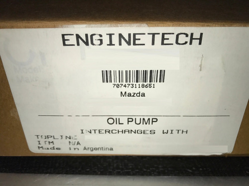 bomba aceite completa mazda bt50 bt-50 2.6 b2600 enginetech