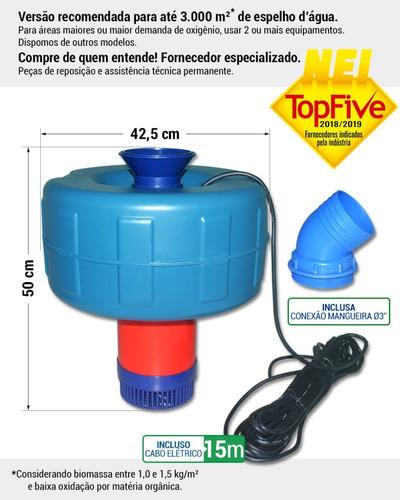 bomba aerador chafariz para piscicultura 1,5cv