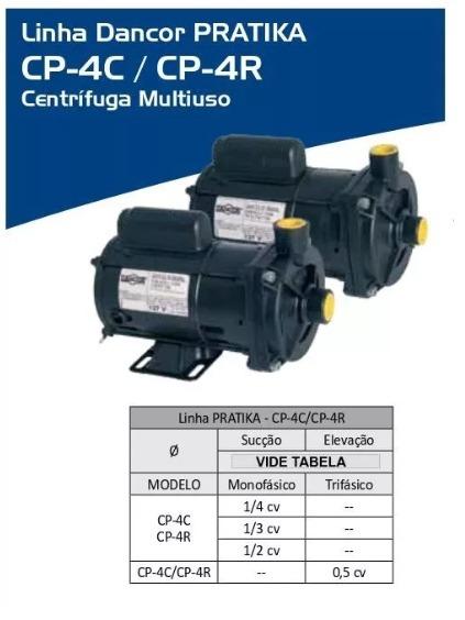 Bomba De Agua Centrifuga Dancor 1 4cv Cp-4r Mono 127v - R  513 55fd8a7c80e