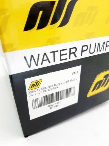 bomba agua fiat palio siena uno fire 1.3 16v 1.4 8v nts usa