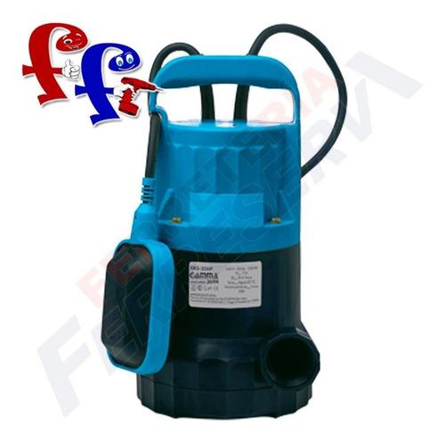 bomba agua limpia sumergible gamma 1/3 hp plastica 250p