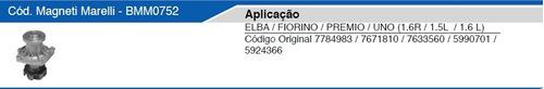 bomba agua marelli elba prêmio uno 1.6 c/ ar argentino 0752