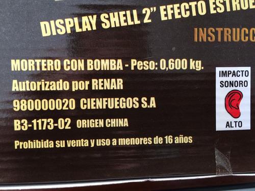 bomba cebolla x6 estruendo cañon mortero fuegos artificiales