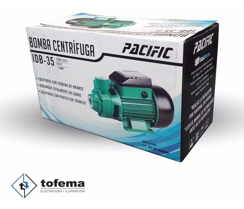 bomba centrífuga 1/2 hp 330w pacific - tofema.