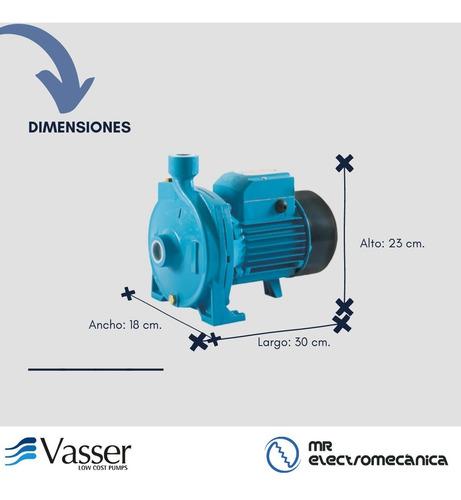 bomba centrifuga 1hp turbina bronce - riego - vasser qc100