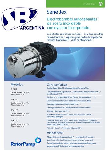 bomba centrífuga c/eyector inc. jex 100 m 1hp
