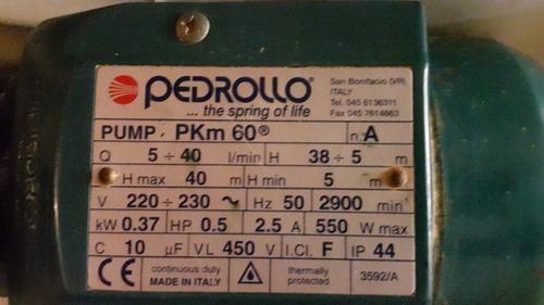 bomba centrifuga elevadora agua pedrollo italiana