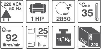 bomba centrifuga extraccion elevacion 1hp gamma cp100