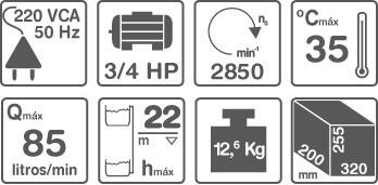bomba centrifuga extraccion elevacion 3/4hp gamma cp80
