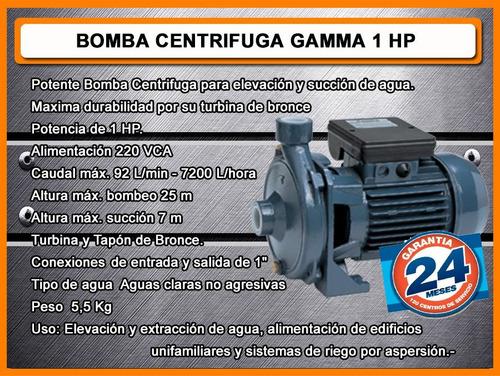 bomba centrifuga gamma 1 hp garantia 24 meses oferta
