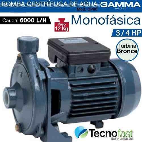 bomba centrifuga gamma extracción elevación 3/4 hp cp80