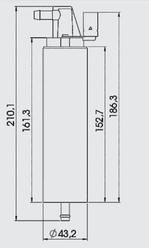 bomba combustível elétrica diesel substitui perkins 2641a203