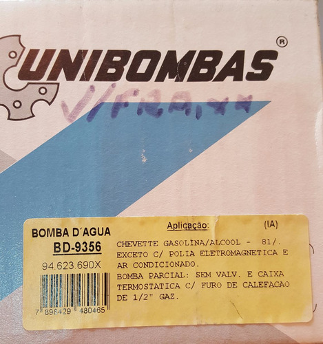 bomba d´agua chevette    bd-9356