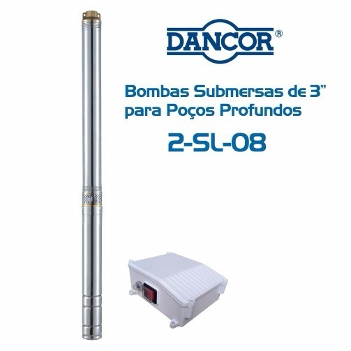 bomba d u0026 39  u00e1gua dancor submersa po u00e7o 3 pol  40m 1  3cv mon