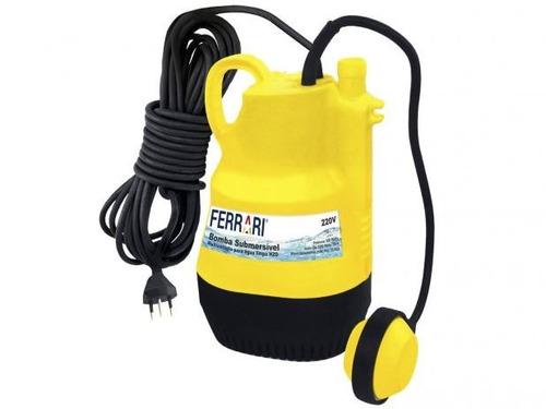 bomba d'agua submersa multi estagio h2o 220v ferrari