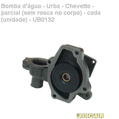 bomba dágua-urba-chevette-parcial (s/rosca corpo)-ub0132