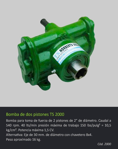 bomba de 2 pistones ts 2000