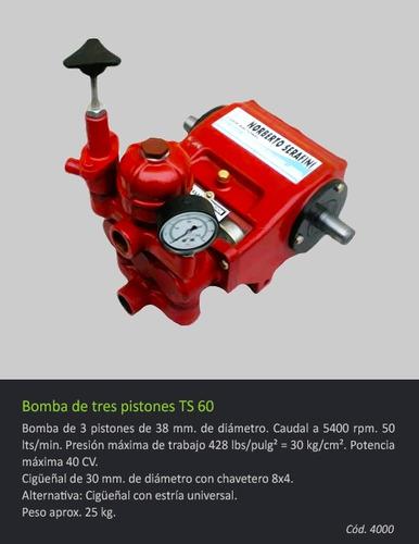 bomba de 3 pistones ts 60