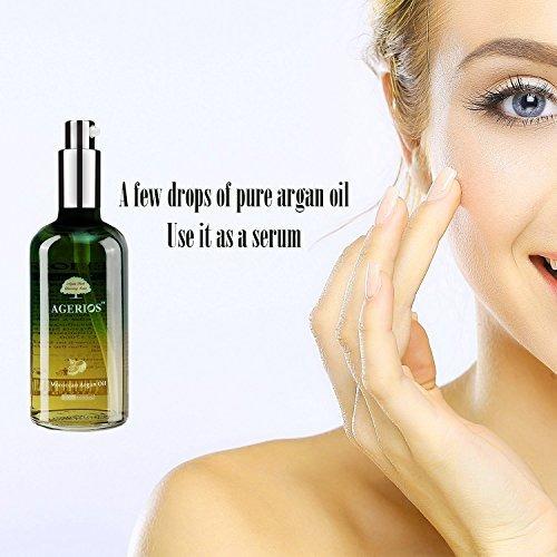bomba de aceite de argán marroquí (3.5 oz) no grasosa, id