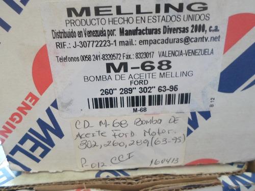 bomba de aceite ford motor 302/260/289 año 63/95