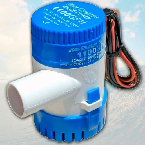 bomba de achique electrica 1100 gph 12v + automatico palermo