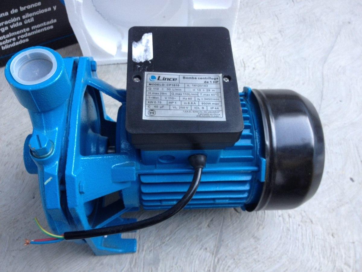 Bomba de agua 1 hp centrifuga marca lince 110v bs 1 15 for Marcas de bombas de agua
