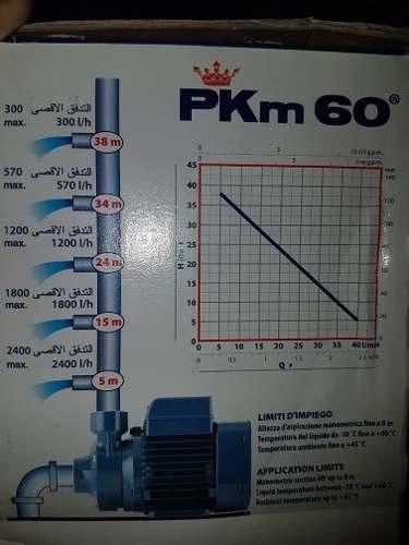 bomba de agua 1/2 hp pedrollo pkm60