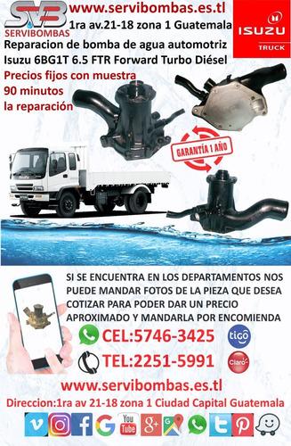bomba de agua automotriz isuzu d-max 2.5 turbo diesel