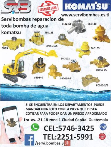 bomba de agua automotriz isuzu npr 3.9 4bd2,4bd1 guatemala